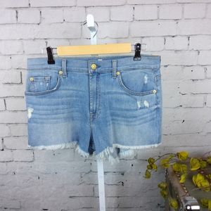 NWOT 7 For All Mankind distressed denim shorts